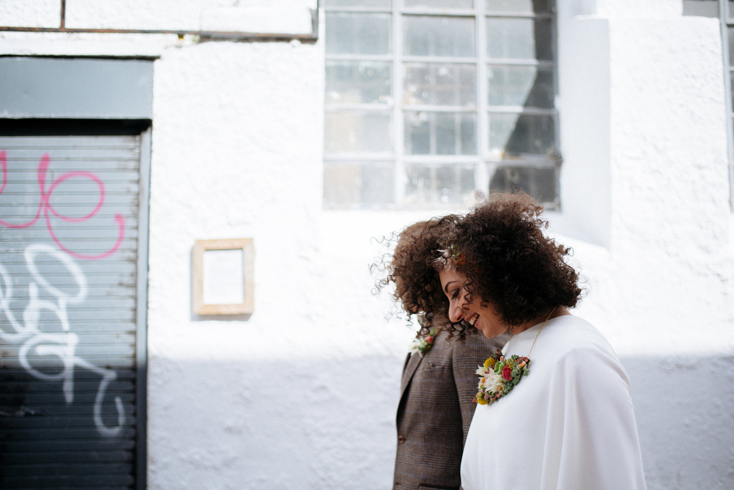 cool dublin city wedding portraits interracial couple