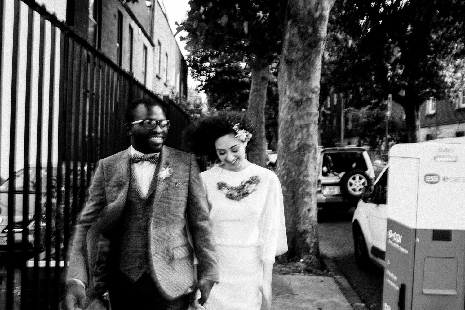 arty dublin city wedding portraits interracial couple