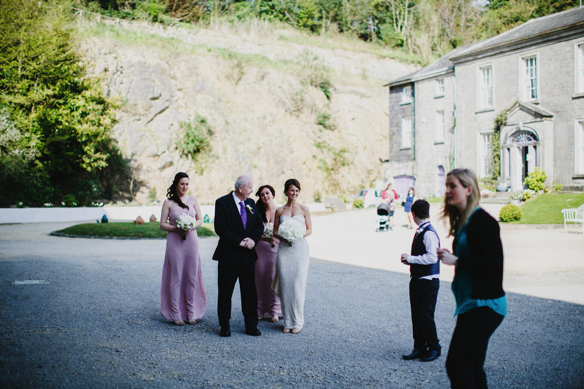 Bride arriving to Old Mill Wedding