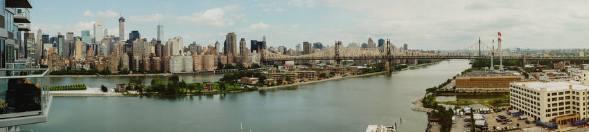 NYC, Manhattan panorama from Long Island City