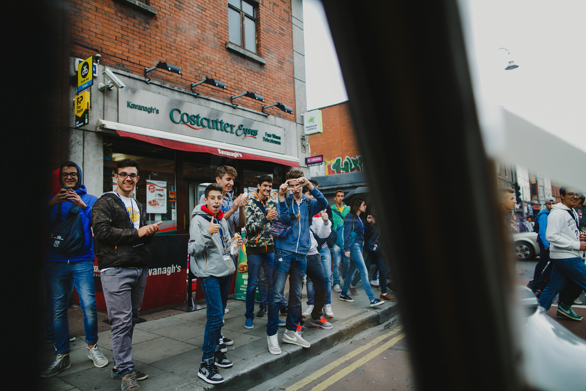 tourists in dublin