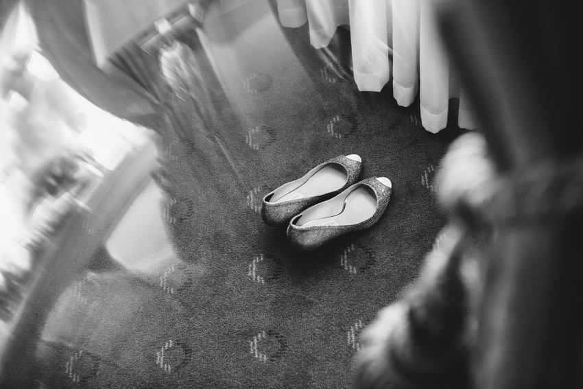 jimmy choo shoes under curtain
