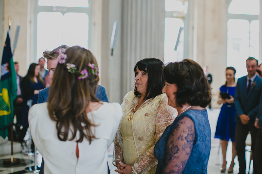 mothers of the bride and groom at wedding