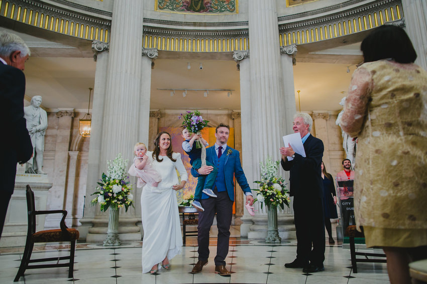 bride and groom happily married at dublin city hall by humanist brian whiteside