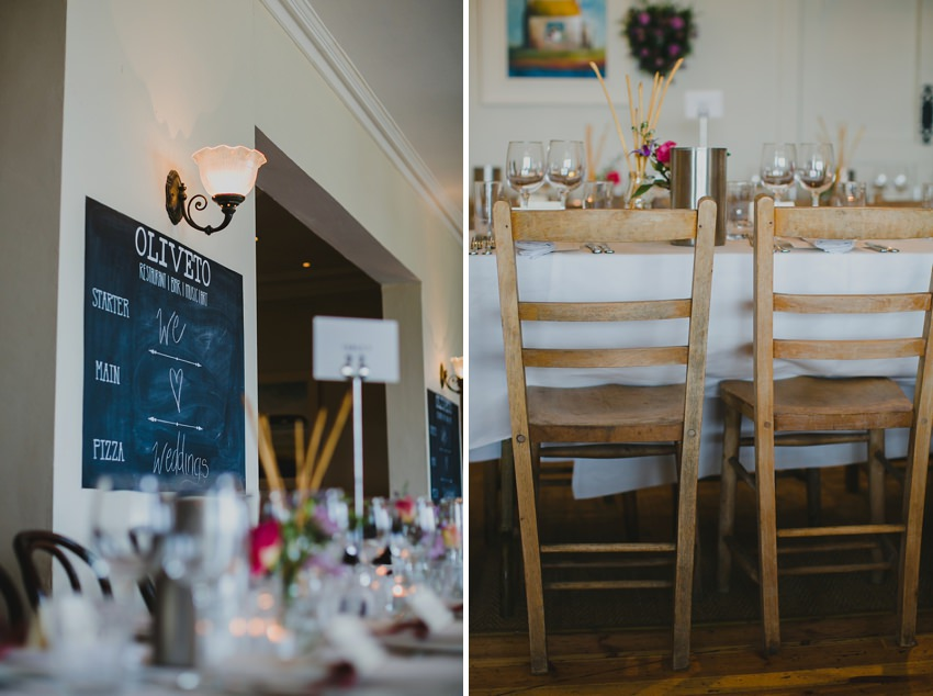 wedding setup at oliveto in laoghaire harbour by david mcclelland photography