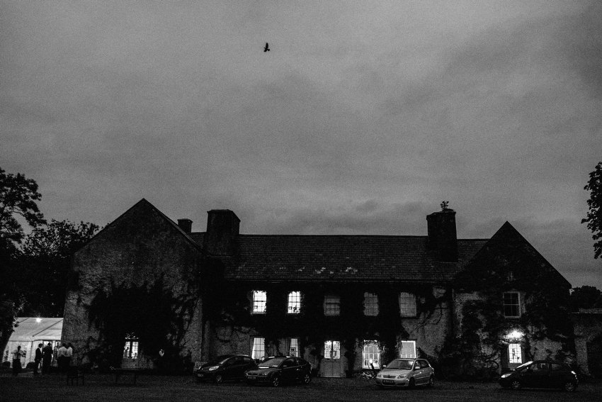 night time at cloughjordan house