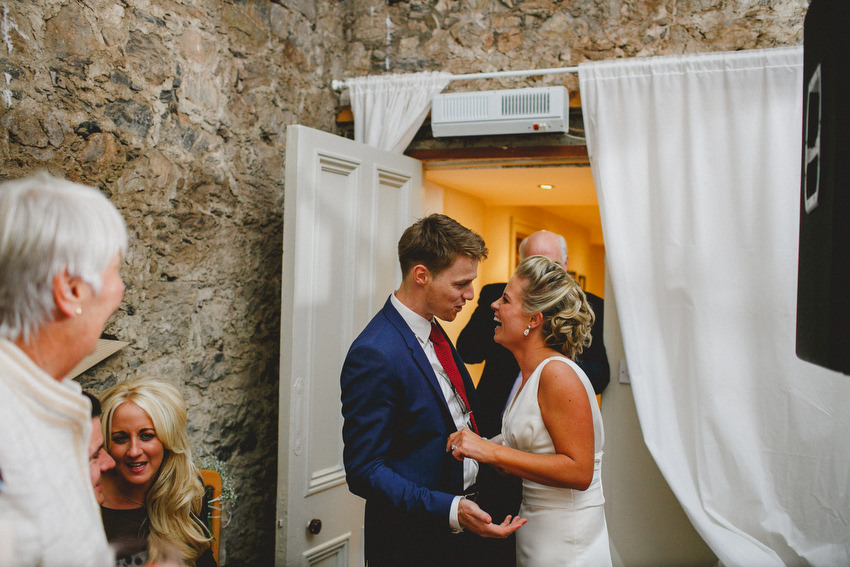 bride and grooms first dance at cloughjordan