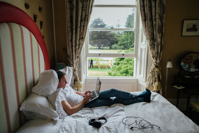 relaxed groom at ballyvolane house