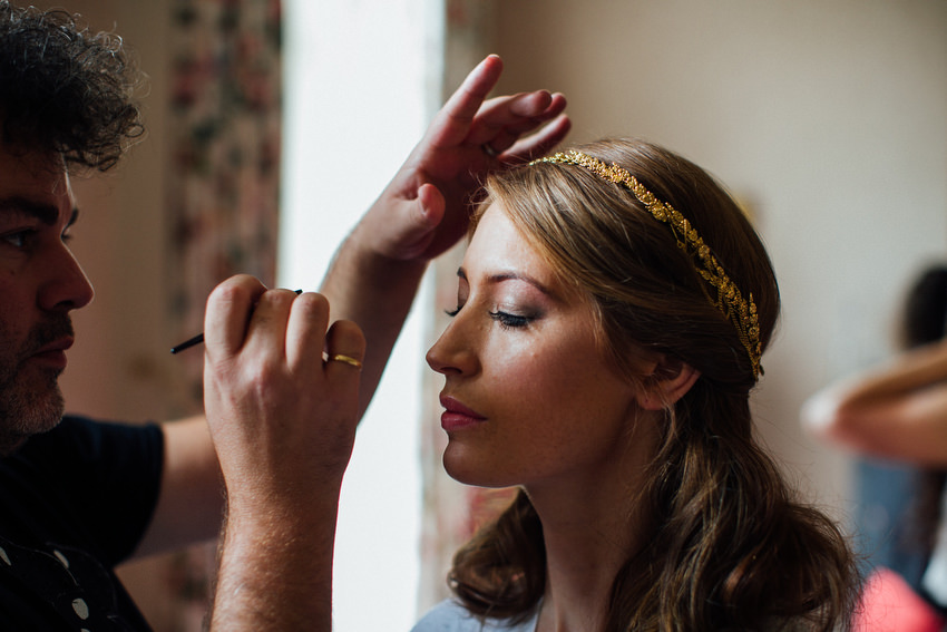 amazing makeup of bride at ballyvolane house