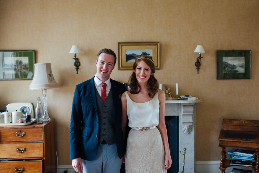 gorgeous bride and groom at ballyvolane house