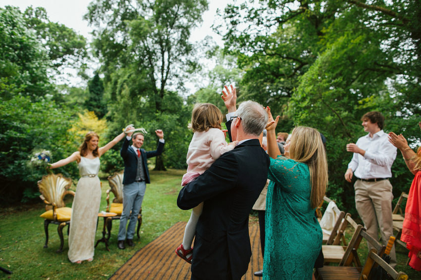 outdoor ceremony at ballyvolane house