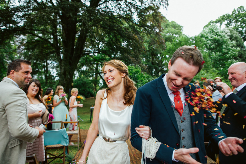 confetti in the face at ballyvolane house