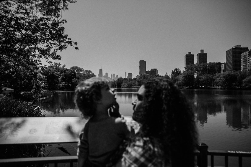 father and son lincoln park chicago by david mcclelland