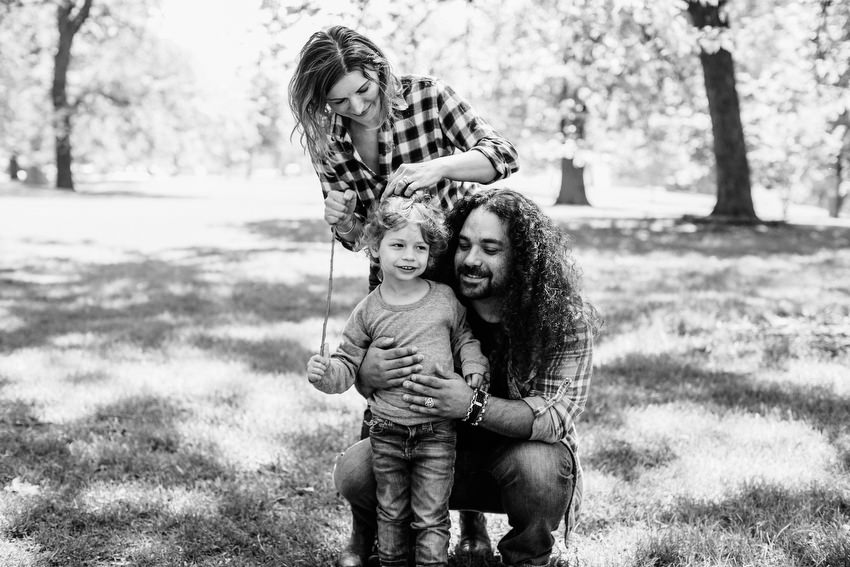 family photo shoot in lincoln park chicago david mcclelland photography