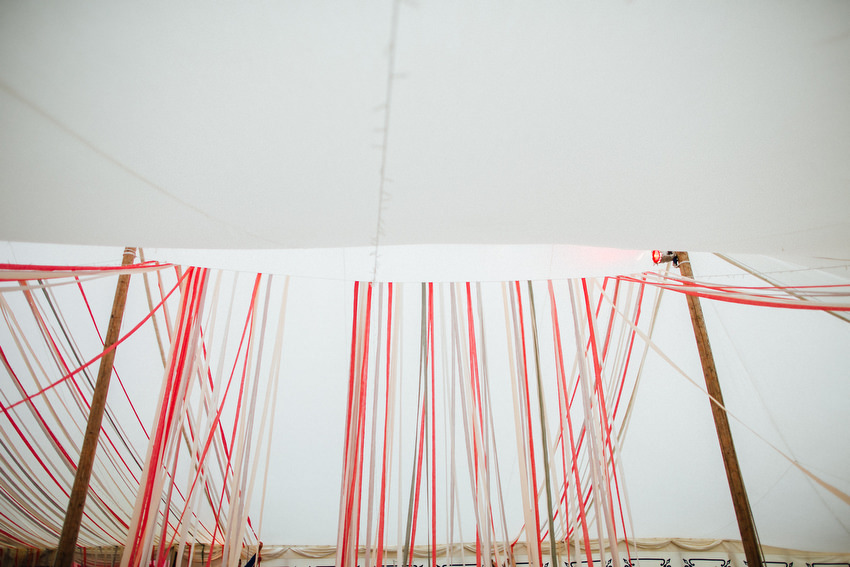 lisnavagh house marquee with streamers
