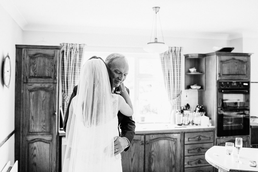 bride and father kinsale wedding