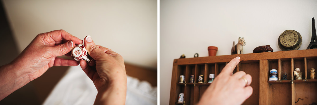 brides family at home with candid wedding photography